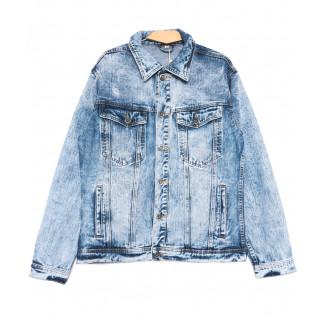 0332 Longli куртка джинсовая мужская полубатальная голубая весенняя стрейчевая (XL-5XL, 5 ед.) Longli: артикул 1105443
