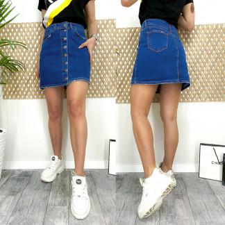 0066 Arox юбка джинсовая на пуговицах синяя весенняя котоновая (34-40, евро, 4 ед.) Arox: артикул 1105540