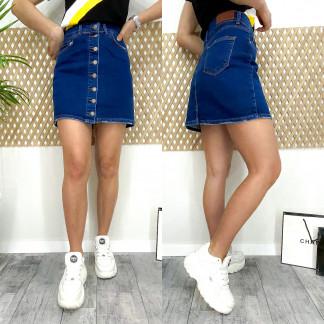 0590-1 Arox юбка джинсовая на пуговицах синяя весенняя стрейчевая (34-40, евро, 4 ед.) Arox: артикул 1105487