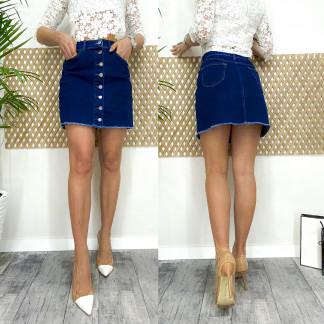 0590-2 Arox юбка джинсовая на пуговицах темно-синяя весенняя стрейчевая (34-40, евро, 4 ед.) Arox: артикул 1105539