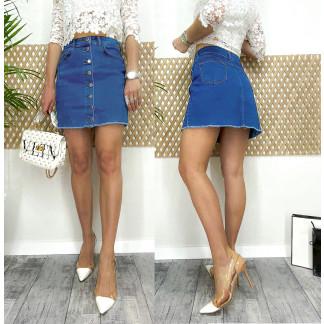 0055-01 Arox юбка джинсовая на пуговицах весенняя котоновая (34-40, евро, 4 ед.) Arox: артикул 1105538