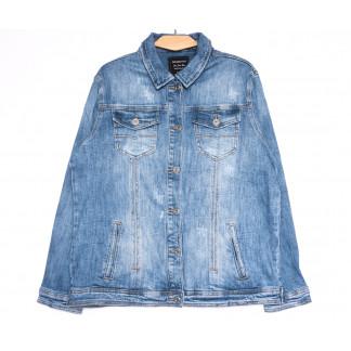3035 Dimarkis Day куртка джинсовая женская полубатальная синяя весенняя стрейчевая (L-4XL, 4 ед.) Dimarkis Day: артикул 1105501