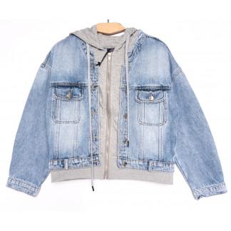 3109 Dimarkis Day куртка джинсовая женская синяя весенняя коттоновая (S-ХL, 5 ед.) Dimarkis Day: артикул 1105512