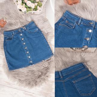 41088-02 Arox юбка джинсовая батальная на пуговицах синяя весенняя котоновая (40-46, евро, 4 ед.) Arox: артикул 1105490