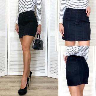 0004 Arox юбка джинсовая черная весенняя стрейчевая (34-40, евро, 4 ед.) Arox: артикул 1105494