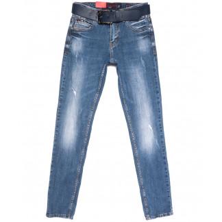 8165 Resalsa джинсы мужские молодежные с царапками синие весенние стрейчевые (27-33, 7 ед.) Resalsa: артикул 1105572