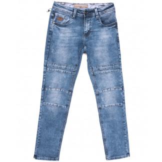 8350 Fangsida джинсы мужские с царапками синие весенние стрейчевые (29-38, 8 ед.) Fangsida: артикул 1105596