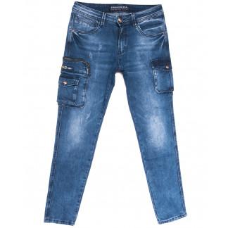 8321 Fangsida джинсы мужские молодежные с боковыми карманами синие весенние стрейчевые (28-36, 8 ед.) Fangsida: артикул 1105598