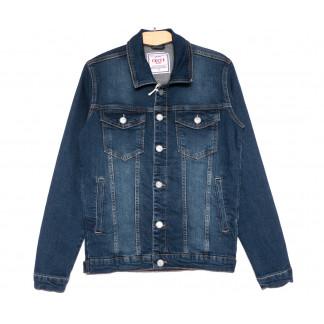 4598 Gecce куртка джинсовая мужская синяя весенняя стрейчевая (S-ХХL, 6 ед.) Gecce: артикул 1105622
