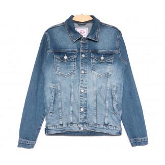 4599 Gecce куртка джинсовая мужская синяя весенняя стрейчевая (S-ХХL, 6 ед.) Gecce: артикул 1105623