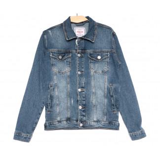 4603 Gecce куртка джинсовая мужская синяя весенняя коттоновая (S-ХХL, 6 ед.) Gecce: артикул 1105632