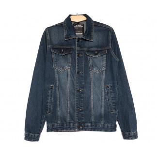 0144 Gecce куртка джинсовая мужская синяя весенняя коттоновая (S-ХХL, 6 ед.) Gecce: артикул 1105635