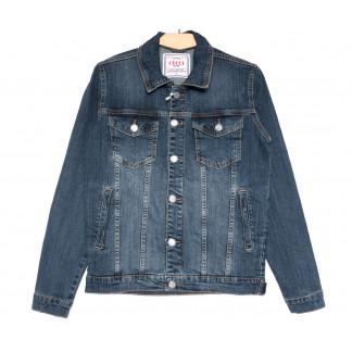 4604 Gecce куртка джинсовая мужская синяя весенняя коттоновая (S-ХХL, 6 ед.) Gecce: артикул 1105636