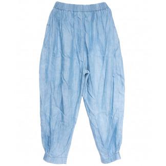 9176 Saint Wish брюки женские стильные голубые летние коттоновые (XS-XL, 5 ед.) Saint Wish: артикул 1105778