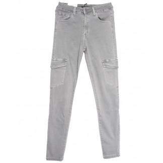 9078-4 серые Saint Wish брюки карго женские весенние стрейчевые (25-30, 6 ед.) Saint Wish: артикул 1105780