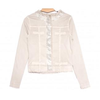 9136-14 бежевая Saint Wish куртка джинсовая женская весенняя стрейчевая (M-3XL, 5 ед.) Saint Wish: артикул 1105788