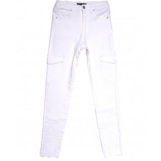 9078-2 белые Saint Wish брюки карго женские весенние стрейчевые (25-30, 6 ед.) Saint Wish: артикул 1105793