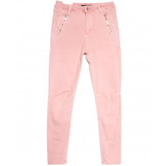 9081-3 розовые Saint Wish брюки женские полубатальные весенние стрейчевые (28-33, 6 ед.) Saint Wish: артикул 1105795