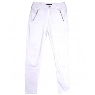 9081-2 белые Saint Wish брюки женские полубатальные весенние стрейчевые (28-33, 6 ед.) Saint Wish: артикул 1105799