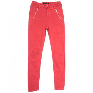 9080-9 красные Saint Wish брюки женские стильные весенние стрейчевые (25-30, 6 ед.) Saint Wish: артикул 1105801