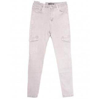 9079-8 серые Saint Wish джинсы женские с боковыми карманами полубатальные весенние стрейчевые (28-33, 6 ед.) Saint Wish: артикул 1105804