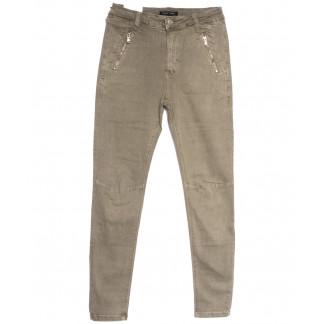 9081-11 хаки Saint Wish брюки женские полубатальные весенние стрейчевые (28-33, 6 ед.) Saint Wish: артикул 1105815
