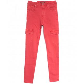9078-9 красные Saint Wish брюки карго женские весенние стрейчевые (25-30, 6 ед.) Saint Wish: артикул 1105817