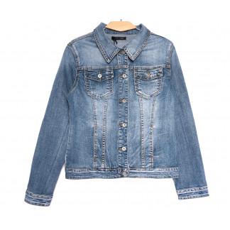 9118 Saint Wish куртка джинсовая женская синяя весенняя стрейчевая (M-3XL, 5 ед.) Saint Wish: артикул 1105826