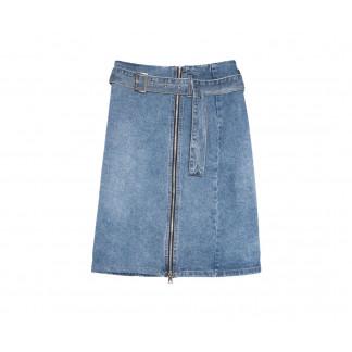 9061 Saint Wish юбка на змейке синяя весенняя коттоновая (25-30, 6 ед.) Saint Wish: артикул 1105829