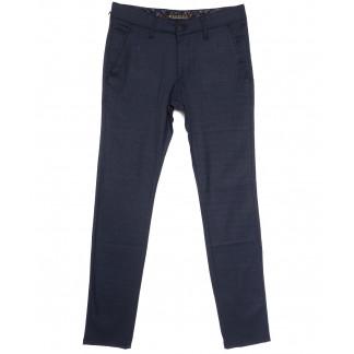 0003-K Konica брюки мужские темно-синие в клетку весенние стрейчевые (30-38, 7 ед.) Konica: артикул 1105838