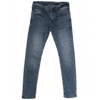 0151 Jack Kevin джинсы мужские с царапками синие весенние стрейчевые (29-38, 8 ед.) Jack Kevin: артикул 1105852