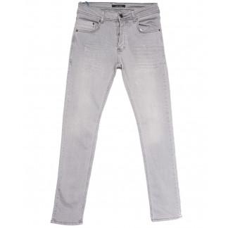 5264 Jack Kevin джинсы мужские с царапками серые весенние стрейчевые (29-38, 8 ед.) Jack Kevin: артикул 1105856