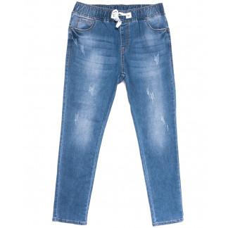 1550 Lady N джинсы женские на резинке батальные синие весенние стрейчевые (31-38, 6 ед.) Lady N: артикул 1105877