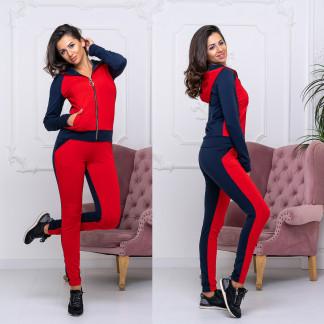 8008-03 красный женский спортивный костюм (42-48, 4 ед.) Костюм: артикул 1105894
