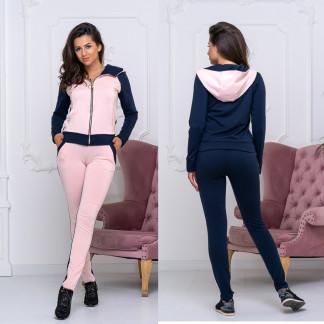 8008-02 розовый женский спортивный костюм (44,44,48, 3 ед.) Костюм: артикул 110589581