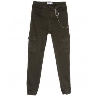 3000 Forgina джинсы женские с боковыми карманами хаки весенние стрейчевые (26-31, 6 ед.) Forgina: артикул 1106021