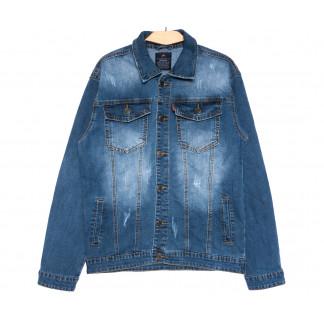 2233-3 R Relucky куртка джинсовая женская синяя весенняя стрейчевая (S-XXXL, 6 ед.) Relucky: артикул 1106128