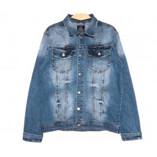 2231-3 R Relucky куртка джинсовая мужская синяя весенняя стрейчевая (S-XXXL, 6 ед.) Relucky: артикул 1106148