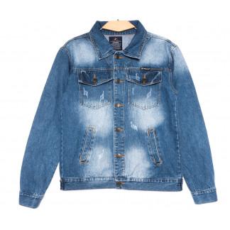 2234-3 D Relucky куртка джинсовая женская с царапками синяя весенняя стрейчевая (S-XXXL, 6 ед.) Relucky: артикул 1106149