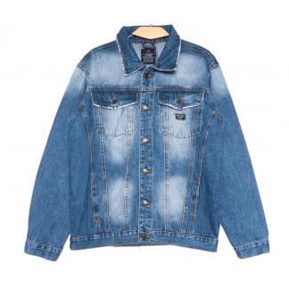 2238-3 R Relucky куртка джинсовая мужская синяя весенняя стрейчевая (S-XXXL, 6 ед.) Relucky: артикул 1106150