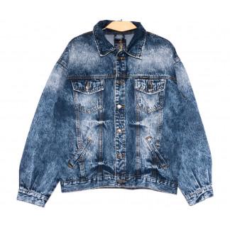 2201-5 А Relucky куртка джинсовая женская синяя весенняя стрейчевая (S-XL, 6 ед.) Relucky: артикул 1106153