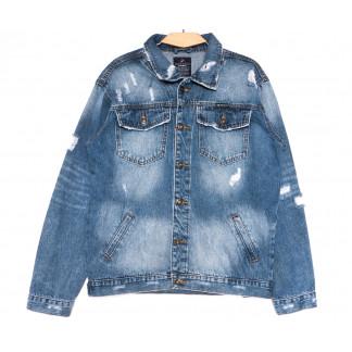 2236-3 А Relucky куртка джинсовая мужская синяя весенняя стрейчевая (S-XXXL, 6 ед.) Relucky: артикул 1106155