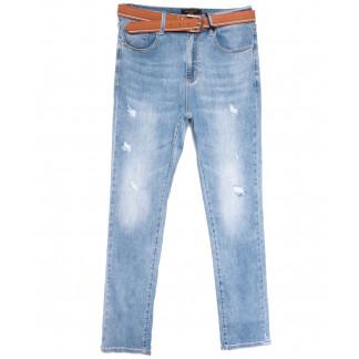 9753 Dimarkis Day джинсы женские батальные с царапками синие весенние стрейчевые (31-38, 6 ед.) Dimarkis Day: артикул 1106170