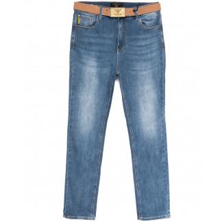 9708 Dimarkis Day джинсы женские батальные с царапками синие весенние стрейчевые (31-38, 6 ед.) Dimarkis Day: артикул 1106172