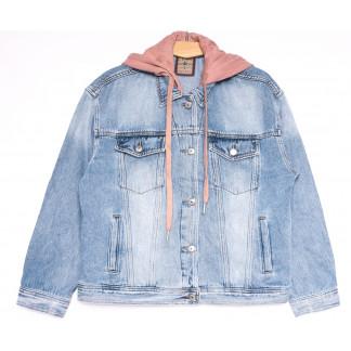 3078 Dimarkis Day куртка джинсовая женская полубатальная весенняя коттоновая (L-4XL, 5 ед.) Dimarkis Day: артикул 1106175