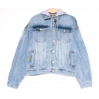 3086 Dimarkis Day куртка джинсовая женская полубатальная весенняя коттоновая (L-4XL, 5 ед.) Dimarkis Day: артикул 1106176