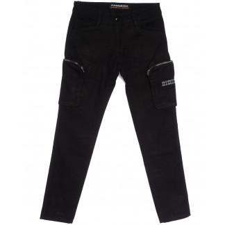 2113 Fangsida брюки карго молодежные черные весенние стрейчевые (28-34, 8 ед.) Fangsida: артикул 1106206