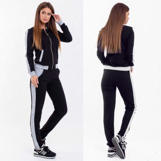 2038-12 серо-черный женский спортивный костюм (42,42, 2 ед.) Костюм: артикул 1107036