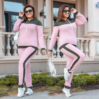 2039-02 хаки-розовый женский батальный спортивный костюм весенний стрейчевый (50-56, 4 ед.) Костюм: артикул 1106293