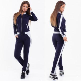 2038-08 серо-синий женский спортивный костюм (42,42,46, 3 ед.) Костюм: артикул 1107032
